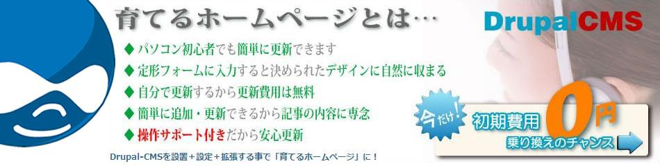 サイト数限定【育てるホームページ】